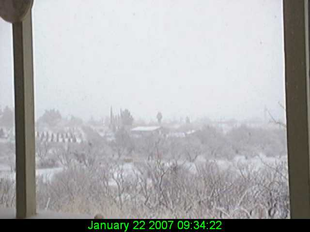 Sierra Vista Snow - January 21 & 22, 2007